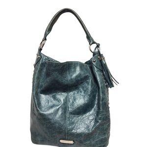 Cynthia Rowley Bucket Bag Teal Studded Purse